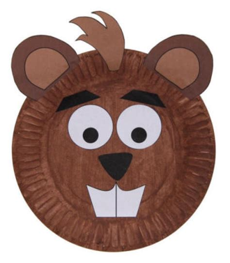 paper plate mask craft paper plate beaver craft