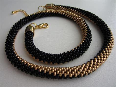 crochet bead necklace bead crochet necklace mostacilla