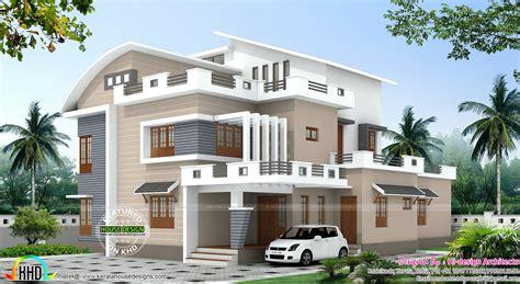 kerala home design 4 bedroom 4 bedroom modern mix house plan kerala home design and