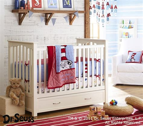 dr seuss baby bedding sets dr seuss cat in the hat baby bedding set pottery barn