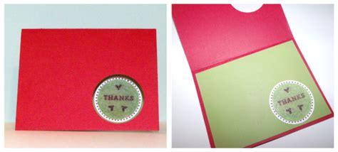 make thank you cards make a circle punched thank you card dollar