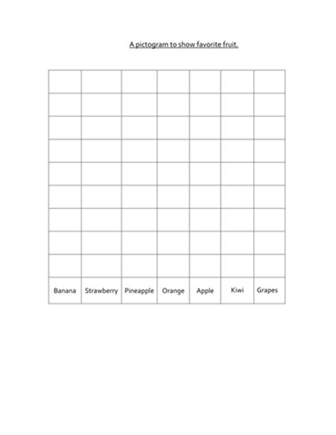 free worksheets 187 blank pictograph template free math
