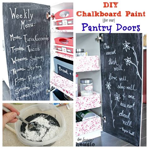 my diy chalk paint is gritty diy chalkboard paint for our pantry doors the happy housie