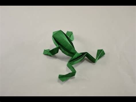 origami dollar frog origami jumping frog by toshikazu kawasaki yakomoga