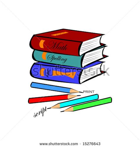 pictures of books and pencils scout illustrations and clipart stock photography images