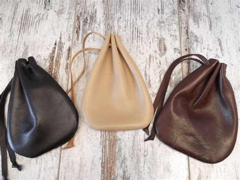how to make a jewelry pouch leather drawstring pouch drawstring bag medicine pouch