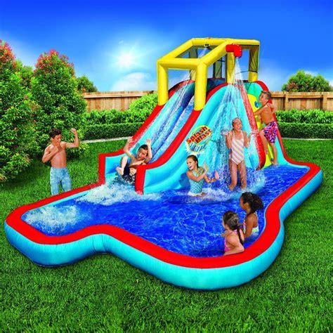 backyard pool slides triyae pools for backyards various