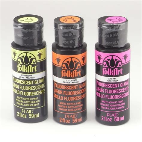 plaid folk acrylic paint uk folkart acrylic paint uv glow colours bundle plaid from