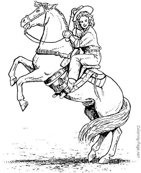 horseback rider drawing horse coloring pages horse