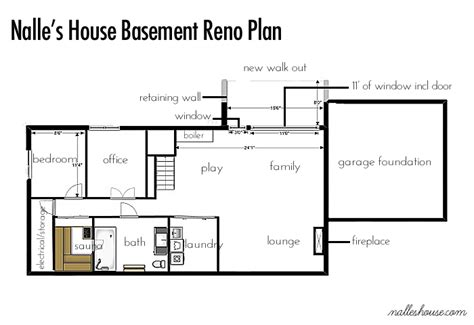 ranch house floor plans with basement nalle s house basement before tour