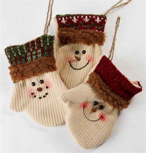 country snowman ornaments primitive snowman mitten ornaments wall