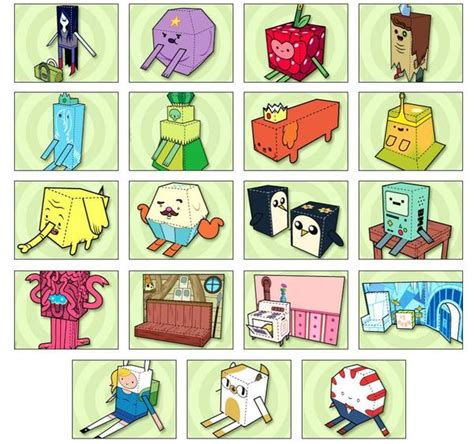 adventure time paper crafts adventure time themed paper crafts gadgetsin