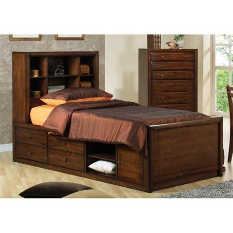 underbed storage bed frame scottsdale bookcase bed with underbed storage