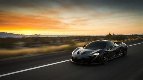 Car Sunset Wallpaper by High Speed Driving Black Sunset Road Car Mclaren