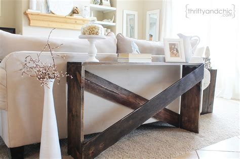 what is sofa table remodelaholic build it x brace concrete side table