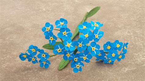 paper flower craft tutorial how to make forget me not paper flower craft tutorial