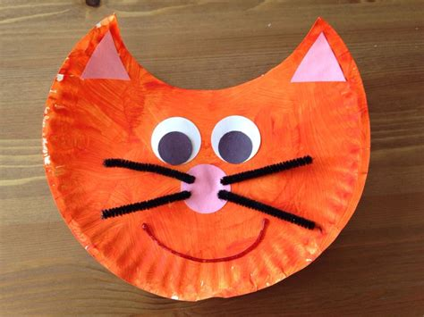 cat paper plate craft paper plate cat craft oliver and company