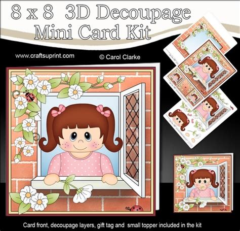 3d decoupage picture kits 8 x 8 mini kit with 3d decoupage through the window