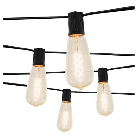 target smith and hawken string lights 10 light spiral filament string lights with black wire