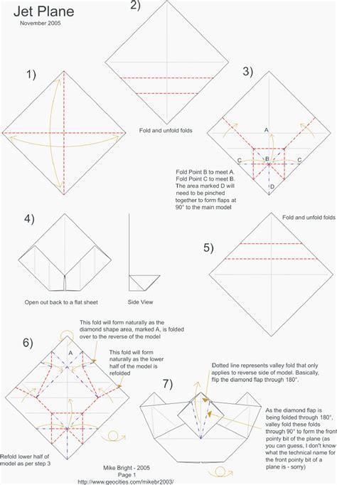 origami jet plane easy origami jet plane comot