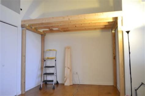 how to make a loft bed frame how to build a loft diy step by step with pictures