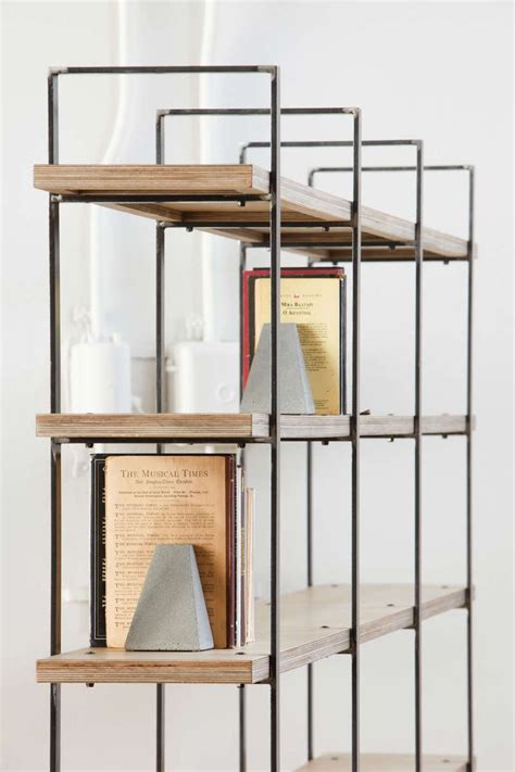 wood and metal shelves metal and wood bookcase quantiply co
