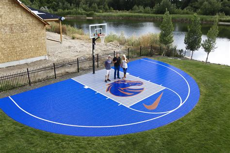 backyard court bryan harsin s backyard court bosie blue and orange court