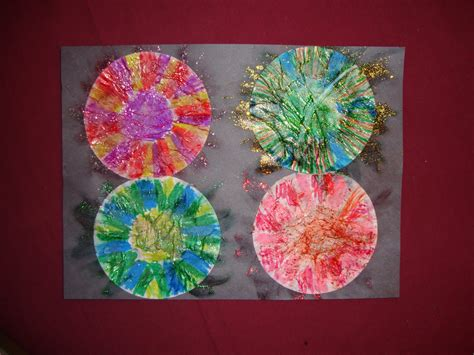 fireworks craft for preschool crafts for 4th of july fireworks picture