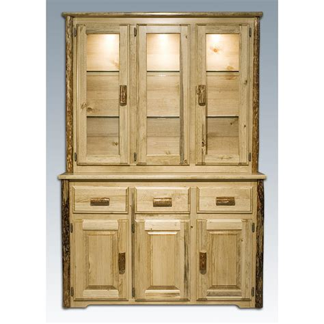 mt woodworks montana woodworks 174 glacier country china hutch 178372
