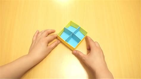 origami box wikihow how to fold a divider for an origami box with pictures