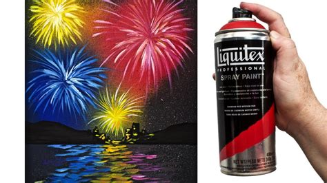 Easy Fireworks Water Acrylic Painting Tutorial