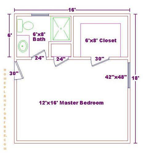 floor plans for master bedroom suites master bedroom 12x16 floor plan with 6x8 bath and walk in