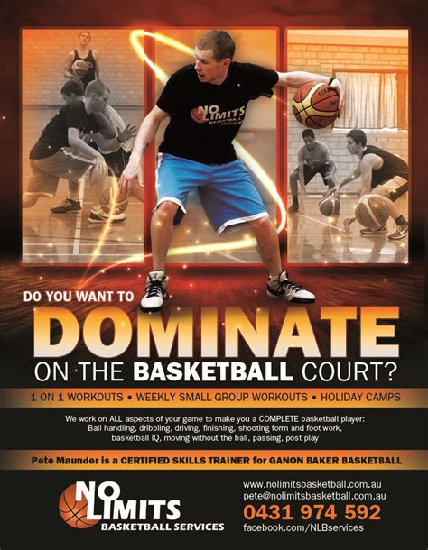modern professional flyer design for no limits basketball