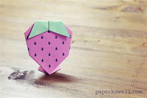 origami paper tutorial origami strawberry tutorial free printable paper kawaii