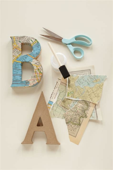 how to make decoupage letters decoupage letters use vintage maps and cut out letters to
