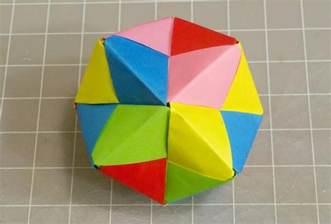 how to make origami out of sticky notes modular origami how to make a cube octahedron