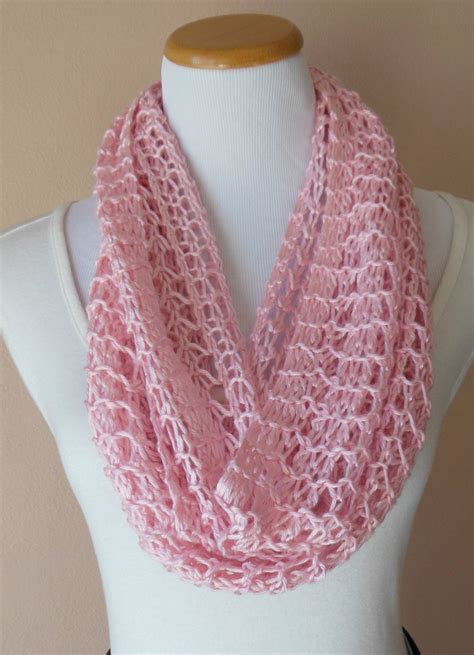 open knit scarf pattern pink infinity scarf knit light weight lacy open weave