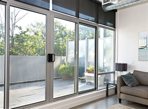sliding glass doors white sliding aluminum door with a large glass for the