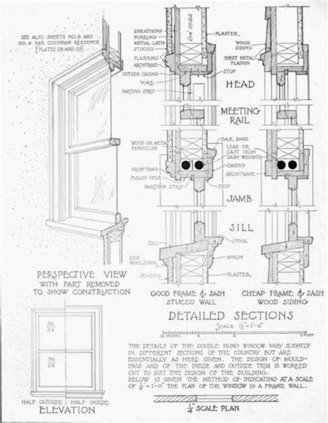 Bow Window Construction Detail double hung window double hung window drawing