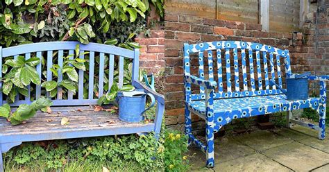 decoupage outdoor furniture easy to make a marimekko bench using paper napkins hometalk