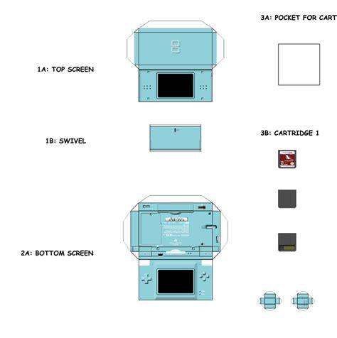 nintendo paper craft papercraft templates search mini electronics