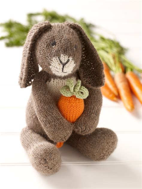 free knitting patterns for rabbits bunny with carrot 183 extract from knitted rabbits by val
