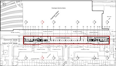 paddington station floor plan design of the cut and cover crossrail paddington
