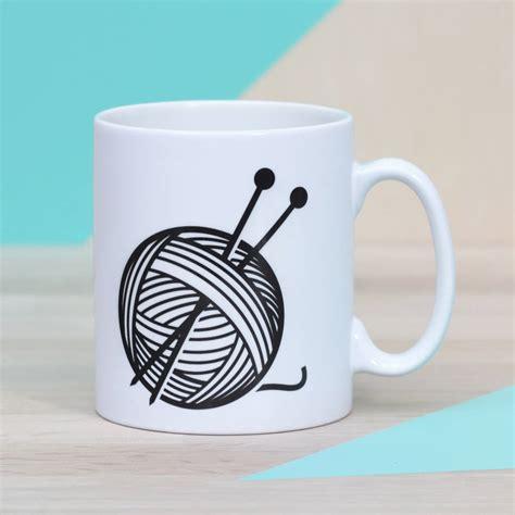 knitting mug relax and unwind ceramic knitting mug by oakdene designs