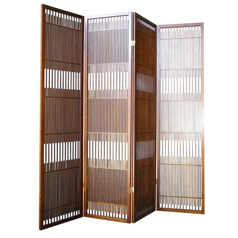 room divider panels ore international walnut 4 panel room divider by oj