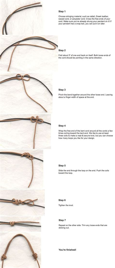 knots for jewelry 25 best ideas about sliding knot on