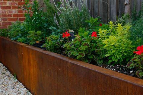 garden wall melbourne landscape bed edging steel retaining walls melbourne