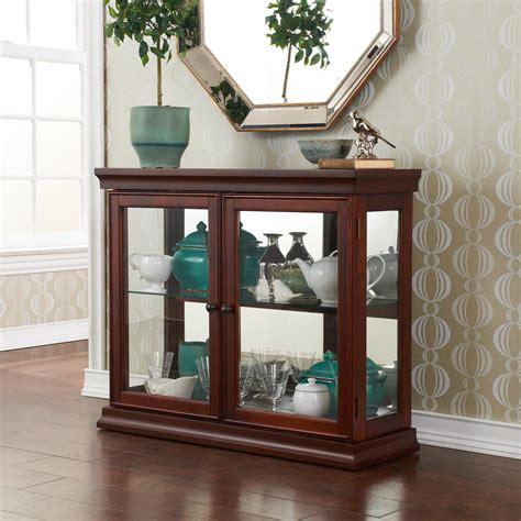 door curio cabinet sei mahogany curio cabinet with