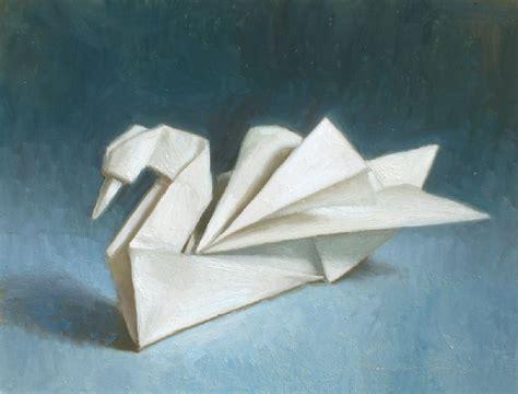 origami swan debbie s space origami swan painting