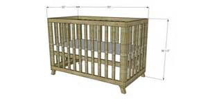 dimensions of a baby crib free diy furniture plans to build a land of nod inspired